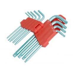 Set 9 clés torx T10 à T50